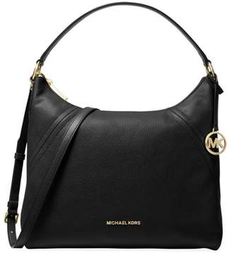 MICHAEL Michael Kors Large Aria Leather Hobo Bag