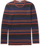 Lanvin - Striped Slub Wool And Alpaca-blend Sweater