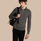 Burberry Zip-collar Merino Wool Sweater