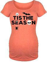 Orange 'Tis The Season' Maternity Scoop Neck Tee
