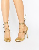 Asos PERSEVERE Lace Up High Heels