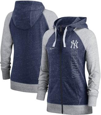 Nike Women's Navy New York Yankees In Pocket Gym Vintage Full-Zip Hoodie