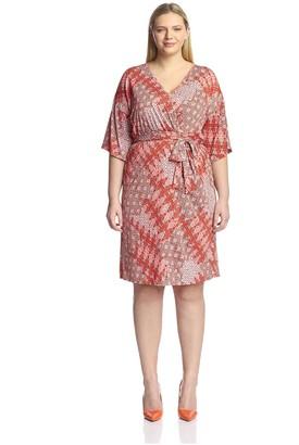 Melissa Masse Plus Women's Kimono Dress