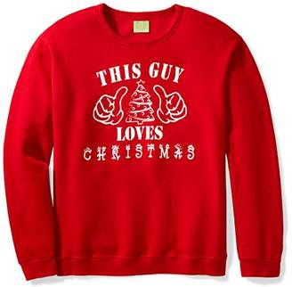 Ugly Fair Isle Unisex Fleece This Guy Loves Christmas Crewneck Sweatshirt