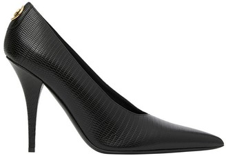 Burberry Stud Detail Embossed Leather Point-toe Pumps