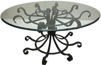 One Kings Lane Vintage French Wrought Iron Dining Table - Chic Transitions