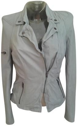 Muu Baa Muubaa Grey Leather Jacket for Women
