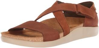 El Naturalista Women's N5098 Pleasant Wood/KOI Flat Sandal 40 Medium EU (9 US)