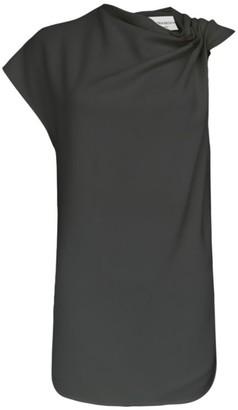 Victoria Beckham Side Drape Sleeveless Top