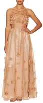 JS Collections Ruched Waist Fit And Flare Dress