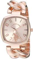 U.S. Polo Assn. Women's Quartz Metal and Alloy Casual Watch, Color:-Toned