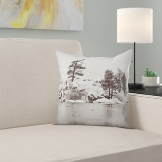Steve Madden East Urban Home Bree Snowy Lake Indoor/Outdoor Throw Pillow East Urban Home
