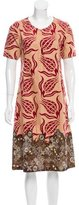 Dries Van Noten Embellished Velvet-Trimmed Dress
