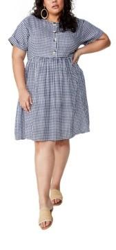 Cotton On Curve Woven Button Front Dress