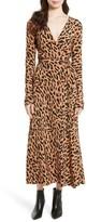 Diane von Furstenberg Women's Midi Print Silk Wrap Dress