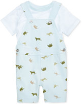 First Impressions 2-Pc. T-Shirt & Animal-Print Overall Set, Baby Boys (0-24 months), Only at Macy's