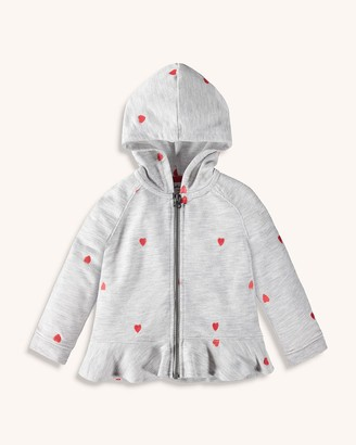 Splendid Toddler Girl Schiffli Heart Hoodie