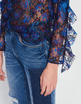 Top in paisley print lace
