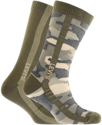 Levi's Levis Camo 2 Pack Socks Khaki