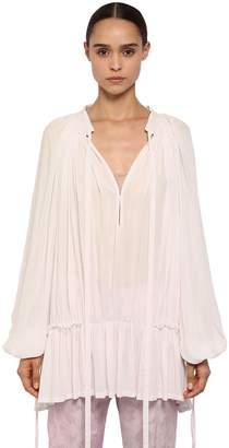 Ann Demeulemeester Draped Light Viscose Shirt