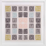 Minted Slightly colorful quilt Art Print