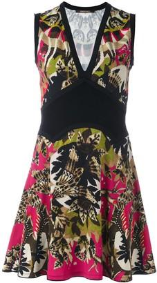 Roberto Cavalli Floral Print Short Dress
