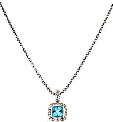 David Yurman Topaz & Diamond Petite Albion Pendant Necklace