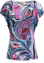Emilio Pucci Printed Stretch-Cady Top