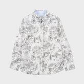 Paul Smith Boys' 7+ Years New York Print 'Master' Shirt