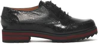 Jil Sander Navy Embossed Leather Brogues
