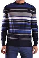 Bikkembergs Men's Blue Cotton Sweater.