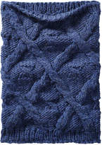 Joe Fresh Women's Cable Knit Cowl Scarf, Cobalt (Size O/S)
