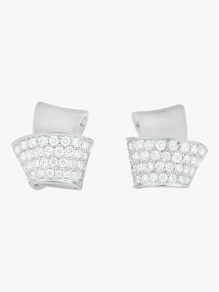 Knot Pave Diamond Stud Earrings