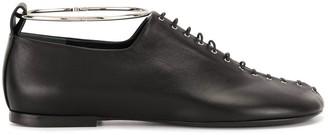 Jil Sander Lace-Up Cuffed Flat Shoes
