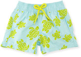 Vilebrequin Jim Flocked Turtles Swim Trunks, Boys' 2-8