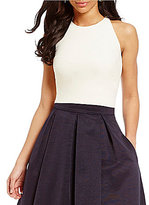 Eliza J Sleeveless Criss-Cross Back Crop Top