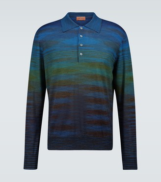Missoni Striped long-sleeved polo shirt