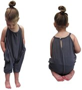 Kids Rompers,FTXJ Toddler Girls Fashion Straps Halter-neck Jumpsuits Loose Pants (2-3Y, )