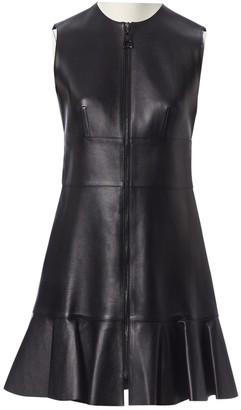 Louis Vuitton Black Leather Dresses