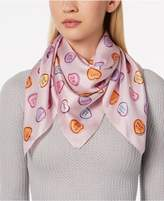 Echo I Heart You Silk Square Scarf