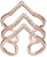 Lauren Conrad 3-Row Chevron Open Ring