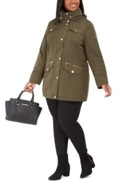 Michael Kors Michael Plus Size Hooded Anorak Raincoat, Created for Macy's