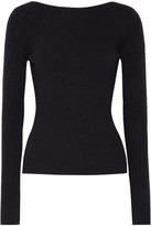 Elizabeth and James Fay Tie-back Ribbed-knit Sweater - Midnight blue