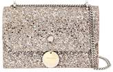 Jimmy Choo Finley Glitter Leather Shoulder Bag