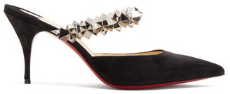 Christian Louboutin Planet Choc Suede Pumps - Black Silver