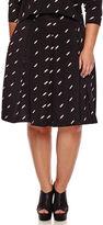Boutique + Ashley Nell Tipton for Boutique+ Box Pleat Skirt - Plus