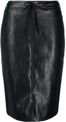 Pinko Faux Leather Pencil Skirt