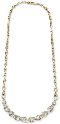 "Wrapped in Love Diamond Infinity Link 17"" Statement Necklace (2 ct. t.w.) in 14k Gold-Plated Sterling Silver"