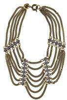 Giles & Brother Crystal Bar & Chain Bib Necklace