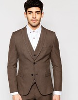 Selected Homme Skinny Dogtooth Suit Jacket With Stretch